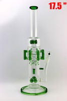 RECYCLER glass bong Diameter 70mm glass water bongs 8 green ...