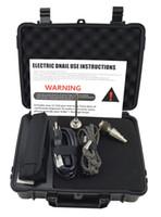 Controlador de temperatura PID profesional E nail Pelican caja E nail 20mm Titanio 20mm bobina de calentamiento Dnail WAX Oil Ship de DHL (en 5 días)