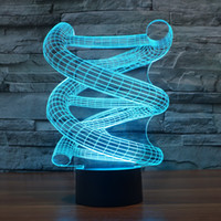2017 New Design DNA 3D Optical Lamp Night Light 9 LEDs Night...