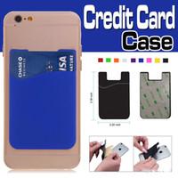 Ultra Carteira do cartão de crédito adesivo self Magro Cartão Set Titular processo de silicone colorido capa para o iPhone 12 Pro Max 11 XS XR Samsung Xiaomi