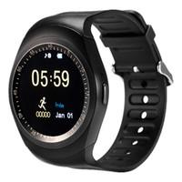 Rodada Bluetooth 4.0 Cartão SIM Suporte IOS IPhone Smartwatch sincronização SMS Esporte Academia Intelligent Relógio relógio inteligente Para Andriod E