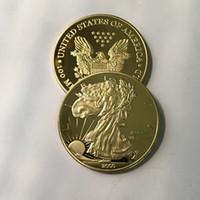 5pcs / lot 브랜드의 새로운 자유 2000 배지 24k 진짜 금 도금 40mm 기념품 동전