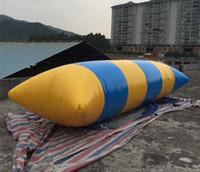 وسادة المياه البلاستيكية للنفخ القفز السريع البلاستيكية بقدرة 9 م * 3 م (مضخة مجانية + مجموعات إصلاح)