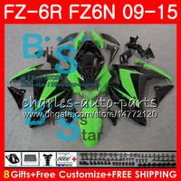 Cuerpo para YAMAHA FZ6N llamas verdes FZ-6N FZ6R 2009 2010 2011 2012 2013 2014 2015 2015NO 8NO31 FZ-6R FZ6 R FZ 6N FZ 6R 09 10 11 12 13 14 15 Carenado