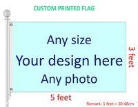 3x5 футов Пользовательский флаг и баннер Любой логотип Любой Цвет 100D Полиэстер Цифровая печать W / Крышка вала