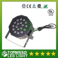 DHL Big LED Light Light 18x3W 54W 85-265V High Power RGB PAR Illuminazione con DMX 512 Master Slave LED LED DJ Auto-controller 1515