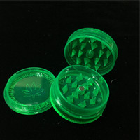 Cheap 1. 7 Inch Green Acrylic Herb Grinders 3- Parts Plastic H...