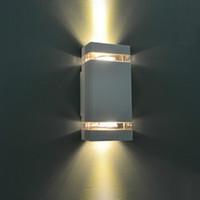 1 шт. / лот светодиодный водонепроницаемый открытый современный настенный светильник 8 Вт AC85-265V IP65 алюминиевый настенный светильник наружное освещение