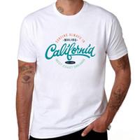 الرجال القميص دائما في ولاية كاليفورنيا ويست كوست الحلم رسالة مطبوعة خمر شارة بيضاء تي شيرت للرجال