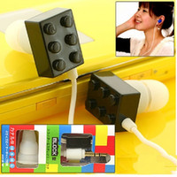 Colorful Toy block Shaped In- ear Building block Earphone 3. 5...