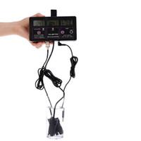 Freeshipping 6 in 1 Wasserqualität Tester Monitor pH-Meter Multi-Parameter-Aquarium Wasserzähler für Test PH / Temperatur / EC / CF / RH / TDS