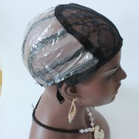 Kostenlose WIG-Kappe $ 1 / PCs Maschine Maschine hergestellt Perücken-Kappe für die Herstellung von Perücken S / M / L Schwarz auf Lager mit dehnbaren Mesh-Wig-Kappe-elastischem Haar