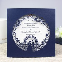 Dark blue vintage engagement invitation card valentine'...