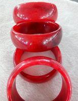 100% Doğal Kırmızı Yeşim Çin Bileklik Bileklik 58-60mm D008