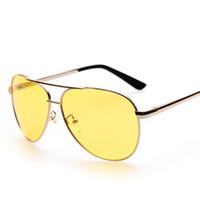 Erkekler Polarize Güneş Gözlüğü Sarı Lens Gözlük UV400 Gece Görüş Sürüş Gözlük Güneş Gözlüğü Spor Sürme Ucuz Gözlük