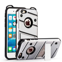 Kickstand Hybrid Armor Case Soft TPU PC Shell Back Cases Cover voor iPhone X XS XR Max 8 7 6 Plus Samsung Note 8 S8 S9 Plus S7 Huawei Mate 9
