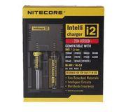 Alta qualidade Nitecore I2 Universal carregador de bateria para 16340 18650 14500 26650 Bateria E Cigarro 2 em 1 Função Muliti Intellicharger