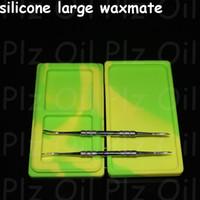 huile de silicone waxmate récipient pots dab cire grand récipient en cire de cire grand qualité alimentaire silicium sec dabber boîte outil