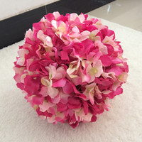 25 cm Seta artificiale Hydrangea Flower Balls Wedding Party Pomander Bouquet Decorazione della casa Ornamento Kissing Ball Hot Decor
