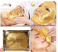 Gold Bio- Collagen Facial Mask Face Mask Crystal Gold Powder ...