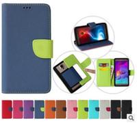 Custodia in pelle Portafoglio universale PU flip con slot per carta di credito per 3,5 a 6 6.0inch formato 12 colori caso telefono mobile delle cellule