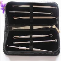 7pcs / set Blackhead Remover Outils Kits Pimple Blemish Extractor Acne Remover Tool Set Make Up Kit de Beauté Kit Tête Noire Aiguille Blanche