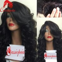 브라질 바디 웨이브 실크 톱 Glueless 풀 레이스 가발 버진 헤어 물결 모양의 4x4 실크베이스 풀 레이스 인간의 머리카락과 가발