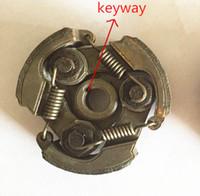 Frizione (ferro) con cava per chiavetta per Robin NB411 1E40F-6 1E48F 47CC 49CC 63CC zappatrice con trivella a 2 tempi pacchetto bici mini dirt ATV
