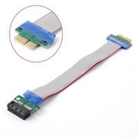 PCI-E 1X الناهض بطاقة موسع كابل انتقال سريع تمديد الشريط الراقية التوافق فليكس نقل كابل 19 سنتيمتر