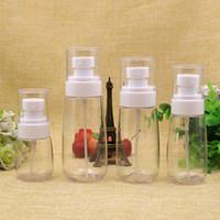 all'ingrosso 30pc / lot 30 ml / 60 ml / 80 ml / 100 ml trasparente pet bottiglia di plastica spruzzatore, vuoto nebbia bianca spray pompa contenitore, bottiglie di profumo