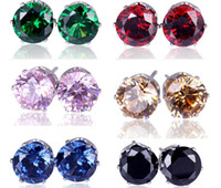 New 36 Pairs Fashion Jewelry Shining Zircon Stud Earrings Bi...