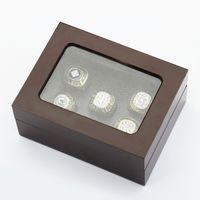 Заводская цена высокое качество пять слотов деревянный дисплей коробка кольца 16*12*7(см) падения груза