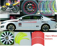 "16 Pcs Strips Wheel Stickers And Decals 14"" - 18"" Re..."