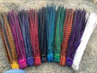 Commercio all'ingrosso 100Pcs 40-45cm / 16-18inches Fagiano di coda di alta qualità naturale piume cose danza decorazione di nozze