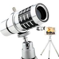 Brand new 12X Ampliação Universal Mobile zoom Telefone Telescópio Magnifier Optical Camera Lens Para lente de smartphones