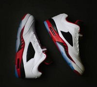 Wholesale Neymar 5 Low Fire Red Men Basketball Shoes sneaker...