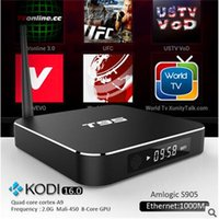 T95 TV Box S905 Quad Core Kdplay16.0 XBMC completamente cargado Android 5.1 8 Core Skybox WIFI 1000M 4K Smart TV Box