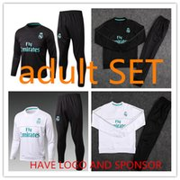 HAVE SPONSOR Real madrid tracksuit 17 18 sweater suit 2017 2...