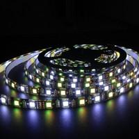5M 60 / mSMD 5050 RGBW / WW Schwarz PCB LED Streifen DC 12V flexibles Licht keine / wasserdicht