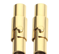Edelstahl Silber Zylinder Magnetverschluss Steckverbinder Schmuckzubehör liefert Handwerk Leder Cord Endkappe Armband