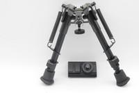 6-9 '' Bipiede del fucile regolabile a 5 livelli con adattatore da 20 mm con adattatore per perno girevole Picatinny Rail