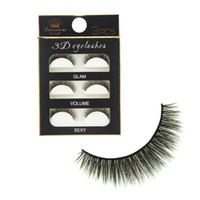3Pairs Lot 3D Black Cross Thick False Eyelashes Super Soft N...