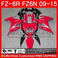 Corps pour YAMAHA FZ6N FZ-6N TOP rouge noir FZ6R 2009 2010 2011 2012 2013 2014 2014 82NO50 FZ-6R FZ6 R FZ 6N FZ 6R 09 10 11 12 13 14 15 Carénage