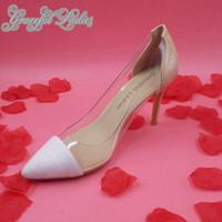 Białe i Bude Kobiety Sukienka Buty Przezroczyste PCV Plastikowe Pompy Panie Półce Slip-On Panie Buty Pompy Niestandardowe Duże Się Shoe Celebrity