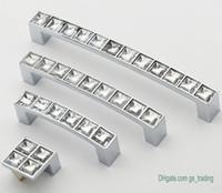 Móveis de cristal moderna alças Chrome Maçanetas Dresser gaveta Roupeiro Cozinha Armários Armário Pull Porta Acessórios