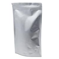 8.7 '' x11.4 '' (22x29cm) Mylar Stand Up Puro sacchetto di alluminio con sacchetto per alimenti Evento Coffee Nuts Bag richiudibile con chiusura a zip