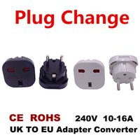 Electric UK Change EU Plug Adaptateur de prise de courant murale Adaptateur de voyage international Universal Travel Socket Power Charger Converter UK To EU