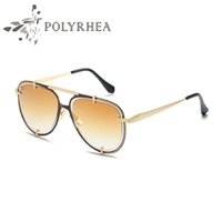 Occhiali da sole classici di alta qualità Designer Brand Mens Womens Occhiali da sole Double Circle Frames Gradient UV400 Lenti Box e custodie