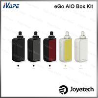 100% Orijinal Joyetech eGo AIO Kutusu Kiti 2 ml 2100 mah Pil Kutusu Mod All-in-one Sistemi Ecigarette Kiti Anti-sızıntı Çocuk Kilidi Ile