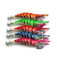 20pcs 12cm 14.5g richiamo di squid pesca jigging polpo calamaro gancio 3.0 # jigs seppia gambero di legno ami da pesca esche da pesca